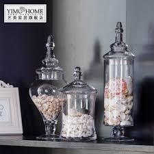 Decorative Glass Jars With Lids 60 SET transparent lid storage bottle glass candy jars Wedding 16