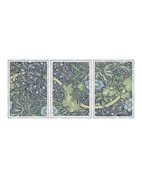 on 3 piece wall art set with seaweed floral 3 piece wall art set