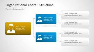 3 Level Org Chart Diagram For Powerpoint Slidemodel