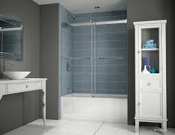 frameless sliding shower doors tub. Fleurco Gemini Plus Bypass Frameless In-Line Sliding Shower Doors Tub Enclosure With 3/
