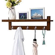 Metal Coat Rack With Shelf Amazon LANGRIA Coat Rack Shelf Coat Rack WallMounted Bamboo 78