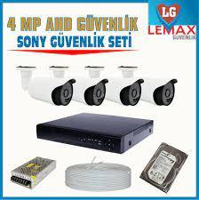 4 Kameralı 4 MP SONY APTİNA 1440 P Güvenlik Kamerası Sistemi - Güvenlik  Kamera Fiyatları