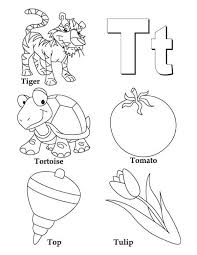 Small Picture Things Comes with Letter T Coloring Page Bulk Color
