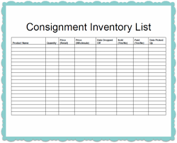 Consignment Inventory Tracking Spreadsheet Business Store