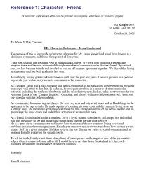 Student Character Reference Letter Image Result For Sample Letters Of Character Reference