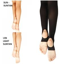 Capezio Light Suntan Capezio Hold Stretch Matt Stirrup Tights