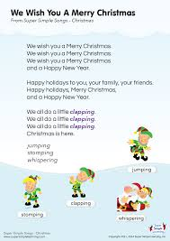 We Wish You A Merry Christmas Lyrics Poster | Super Simple