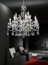 chiffon 12 arm ceiling light chandelier in chrome fl2188 12