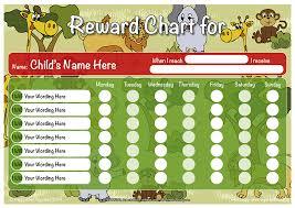Chart Jungle Jungle Theme Child Boys Gilrs Reward Chart