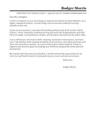 Janitorial Cover Letter Best Maintenance Janitorial Cover Letter Examples LiveCareer 1