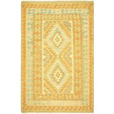 orange and green area rugs brown rug one of a kind hand knotted wool