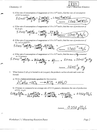 printables writing chemical equations and types of reactions worksheet 2