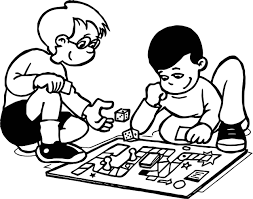 Small Picture Funny Board Game Coloring Page Wecoloringpage