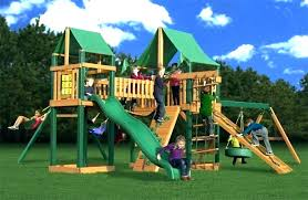 kids wooden swing sets house 2 childrens uk