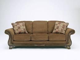 celio furniture. CELIO - Wood Trim Brown Microfiber Sofa Couch Loveseat Set Living Room Furniture Celio