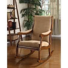 antique oak furniture. Delighful Oak Furniture Of America Antique Warm Oak Finish WoodFabric Upholstered  Rocking Chair Inside