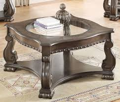 crown mark madison wood coffee table in grey
