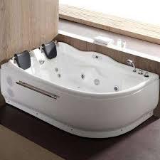 acrylic left drain corner a front whirlpool bathtub in white