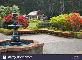 or s acres state park s acres garden pavilion and fountain with rhododendrons
