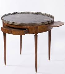 19th century french round mahogany side table with marble top for at 1stdibs