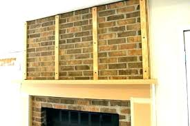 build a mantel how to ld a brick fireplace mantel over s outside lding outdoor build