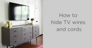 clear the clutter how to hide tv wires and cords guest post from young house love