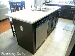 how do you install a dishwasher with granite under installing attaching to countertop ge installation d
