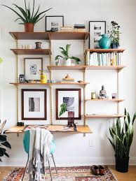 25 diy ideas to make your living room look expensive desk shelveswall