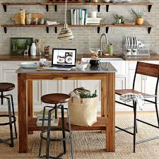 Kitchens:Cool Spinning Metal Kitchen Bar Stools On Plaid Modern Floor  Farmhouse Kitchen With Small