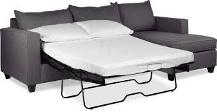 Sofa bed with chaise Leather Halley 2piece Full Sofa Bed Sectional With Rightfacing Chaise Slate Leons Sofa Beds Futons Leons