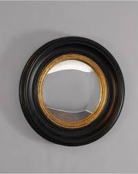 coleridge round black gold convex wall mirror