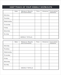 Sample Workout Tracking Sheets 6 Examples In Word Pdf