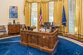 white house oval office. Little Rock, AR/USA - Circa February 2016: Table In Replica Of White House Oval Office E