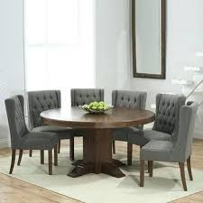 grey round table dark solid oak round dining table with 6 grey chairs grey table mats grey round table grey distressed round dining