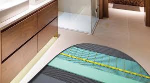 Cut Away Bathroom Floor Showing The Installation Of Electric Underfloor  Heating With Porcelain Floor Tiles