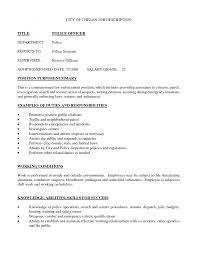 Correctional Officer Job Description Resume font police officer law enforcement resume drew wage ml security 62