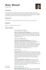 senior programmeranalyst resume samples programmer analyst resume sample