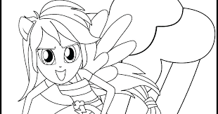 Coloring Pages My Little Pony Girl Coloring Pages Girls Rainbow