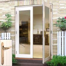 white exterior french doors. La Porte White French Door Pair \u0026 Frame Set With Brass Fittings Exterior Doors D