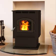 pellet stove with 80 lb hopper and auto