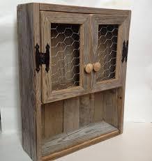 rustic cabinet reclaimed wood shelf en wire decor