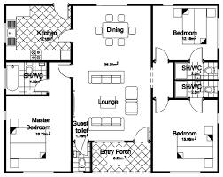 four bedroom bungalow floor plan ideas