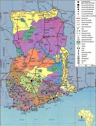detailed administrative map of ghana ghana detailed