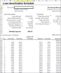 Amortization Table For Loan Loan Amortization Schedule Excel Download Stingerworld Co