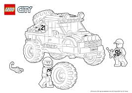 Small Picture 60115 4 x 4 Off Roader Colouring Page LEGO City Activities