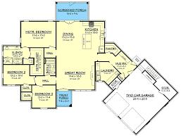 3 Bedroom Open Floor House Plans Simple Decorating Design