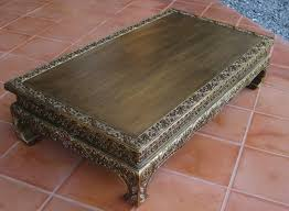 lotus and vines golden antique low table