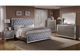 Cosette Grey Queen Upholstered Panel Bed,Crown Mark