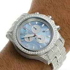 men diamond watch joe rodeo master pilot fully loaded jmp18 26 7ct men diamond watch joe rodeo master pilot fully loaded jmp18 26 7ct blue mop dial