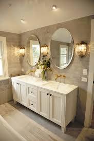 antique white bathroom vanity with stone benchtop